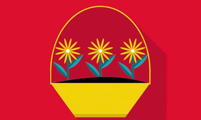 Схема вязание крючком цветы.